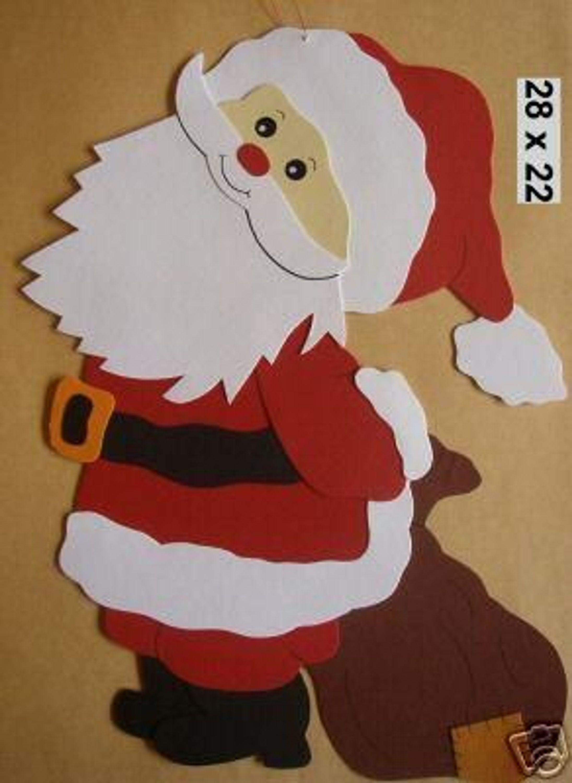 732 weihnachtsmann schaut nach oben tonkarton kaufen bei. Black Bedroom Furniture Sets. Home Design Ideas