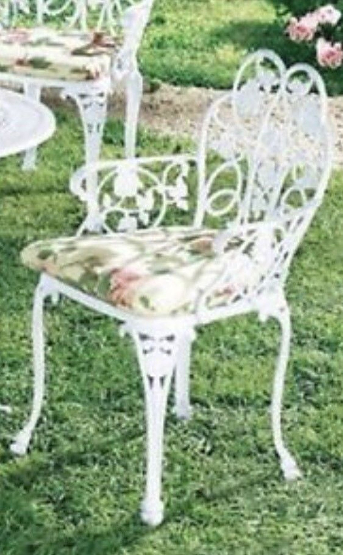 Gartenmöbel Dornröschen Stuhl Sessel Metall Weiß Sitzmöbel kaufen ...