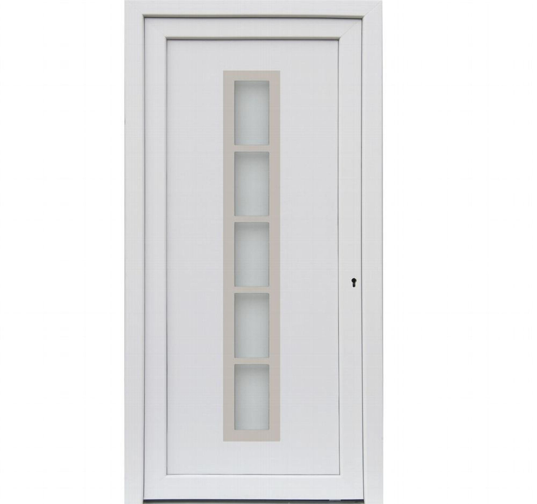 Hausturen Kuporta Kunststoff Merida Weiss Nebeneingangstur