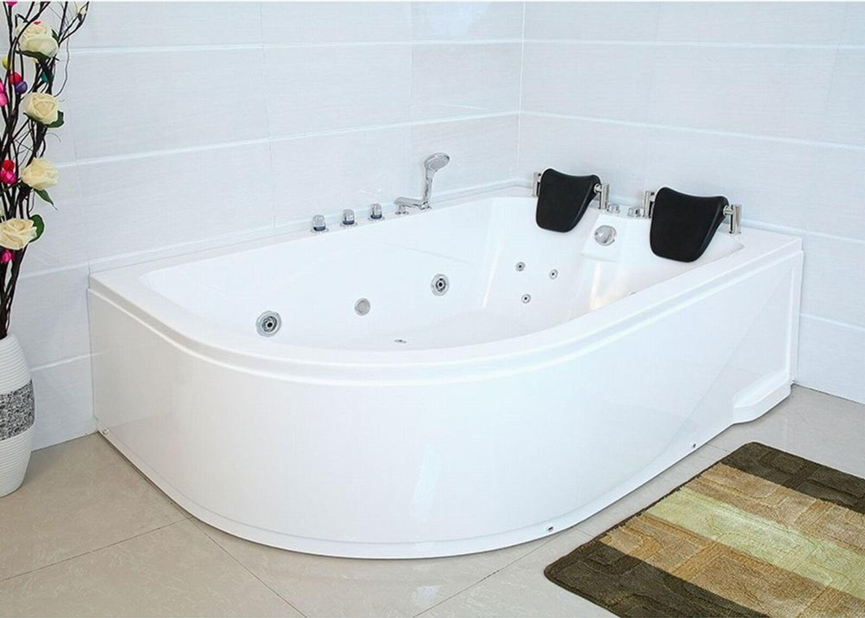 Bekannt XXL Luxus Whirlpool Badewanne mit 14 Massage Düsen Armaturen Spa KH03