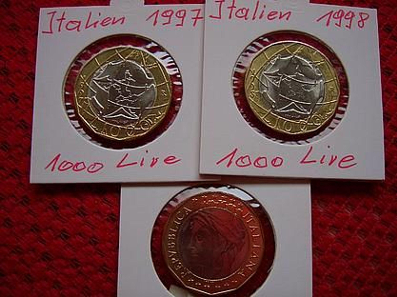 Fehlprägung 1000 Lire Münze 1997 Aus Italien Kaufen Bei Hoodde