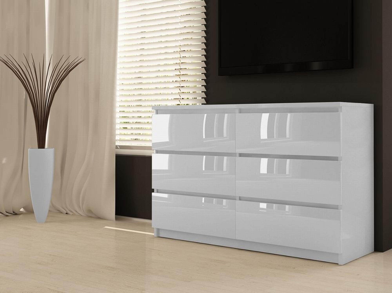 Hochglanz Kommode 6 Schubladen Wascheschrank Sideboard Anrichte