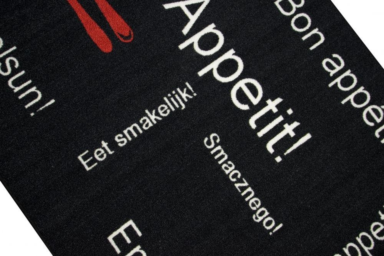 Kuchenlaufer Kuchenteppich Waschbar Mit Schriftzug Guten Appetit In