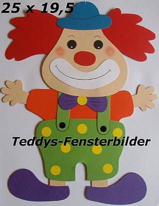 teddys fensterbilder 2 clown tonkarton kaufen bei. Black Bedroom Furniture Sets. Home Design Ideas