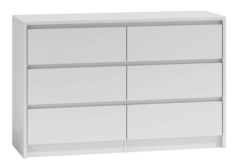 Moderne Kommode Schubladenkommode 6 Schubladen 120cm Breit Weiß