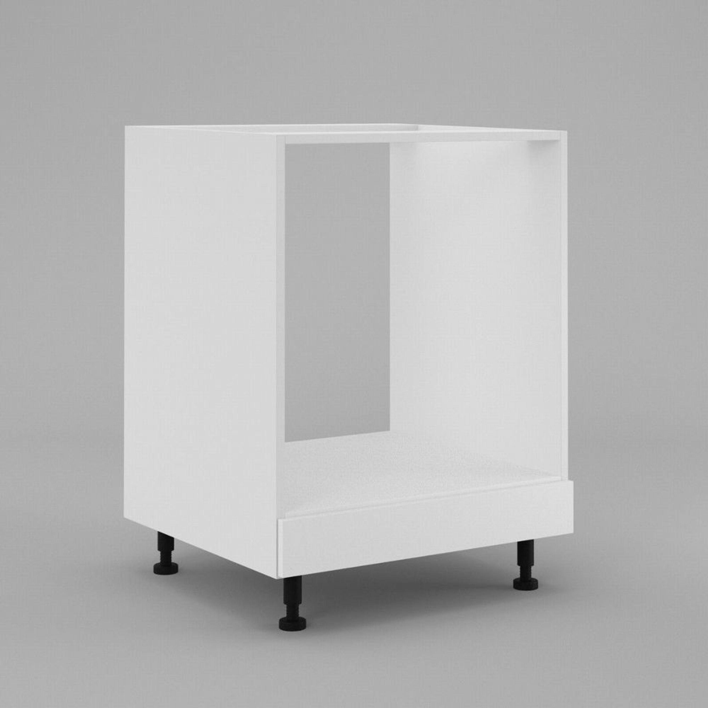 Küchen Backoffenschrank Offenschrank für Einbauherd unterschrank 60cm Weiß