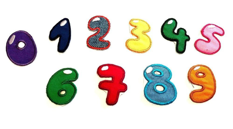 Buchstaben O Zahlen Applikation Flicken Aufbügeln Aufnähen Aufkleben Alphabet