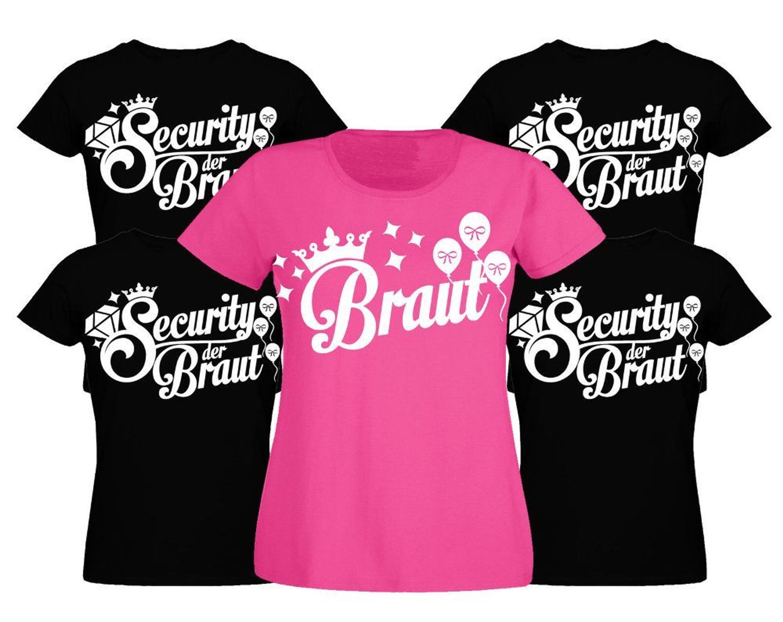 Junggesellinnenabschied T-Shirt Junggesellenabschied Security Braut Damen  shirt kaufen bei Hood.de - 44efc26c19