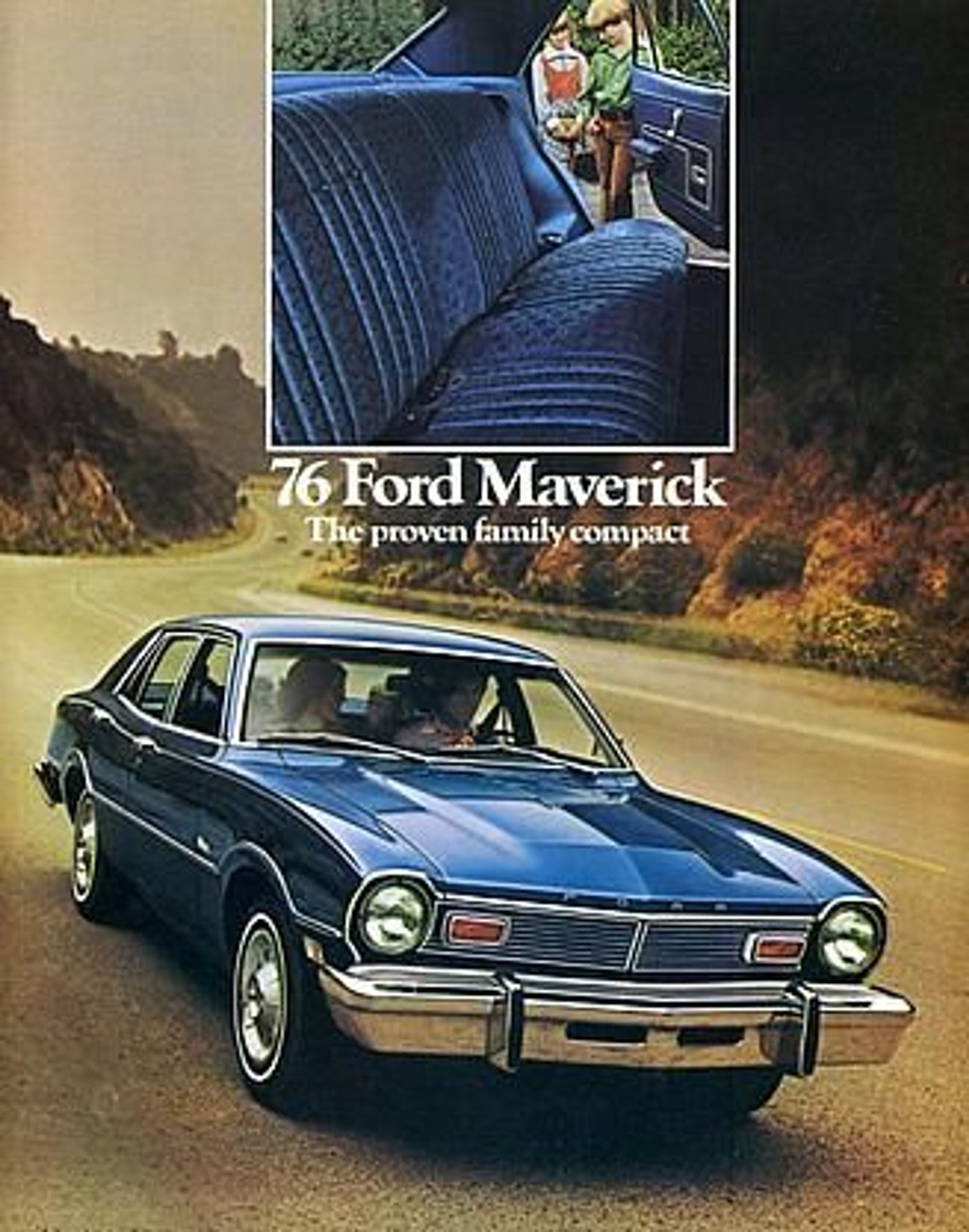 ford maverick us prospekt 1976 gratisversand gebraucht kaufen bei. Black Bedroom Furniture Sets. Home Design Ideas
