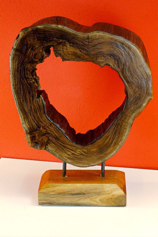 Altholz Skulptur Baumscheibe Holzskulptur Dekoration Wohnaccessoires Holz  Deko Kaufen Bei Hood.de