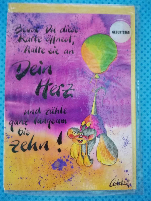 Diddl Anlasskarte Mit Umschlag Geburtstag Neu Ovp 206
