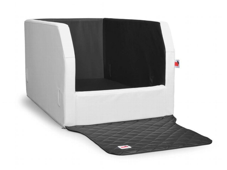hundebett r cksitz m wei schwarz hundekorb auto. Black Bedroom Furniture Sets. Home Design Ideas