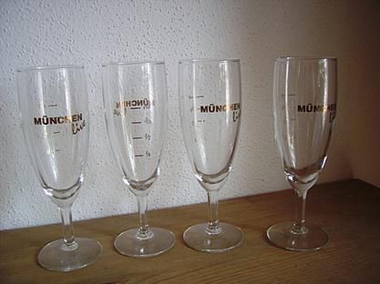 4 st sektglas weinglas glas gold schrift m nchen live gebraucht kaufen bei. Black Bedroom Furniture Sets. Home Design Ideas