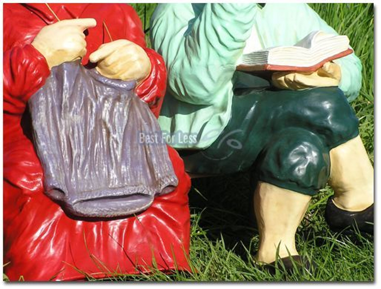 Oma Opa Auf Bank Als Dekofigur Garten Statue Skulptur Dekoration
