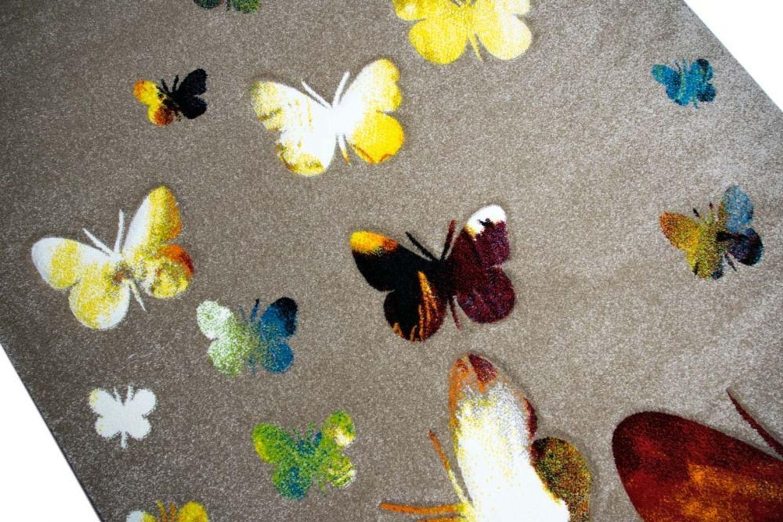 Kinderteppich Spielteppich Kinderzimmer Teppich Schmetterling Design ...