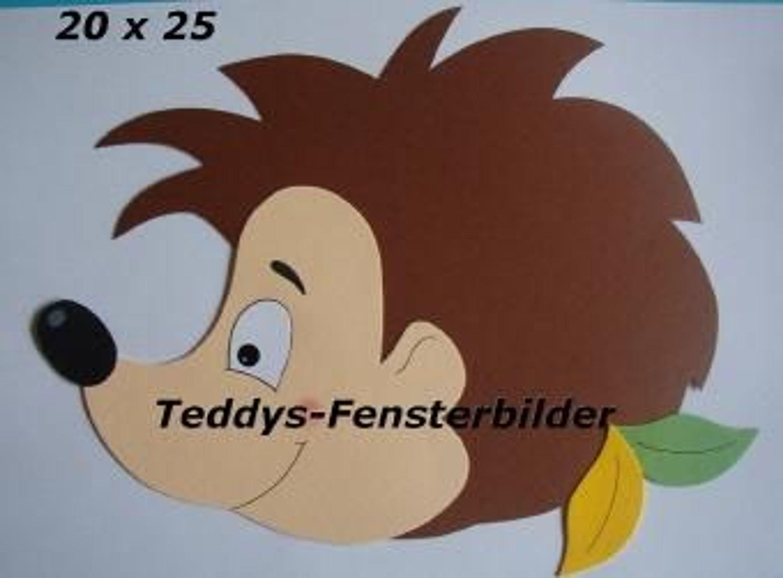 Teddys fensterbilder 511 herbst igel 1 tonkarton kaufen - Herbst bastelvorlagen fensterbilder ...