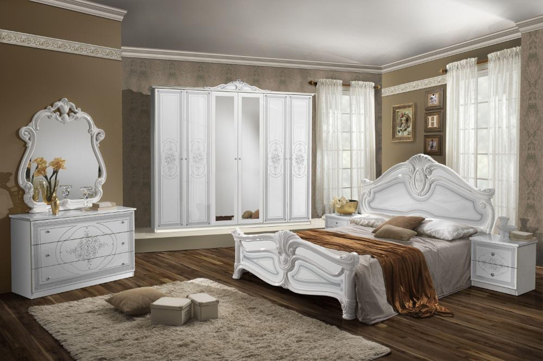 Schlafzimmer Set Weiß Malfi mit 6-türigem Schrank kaufen bei Hood.de