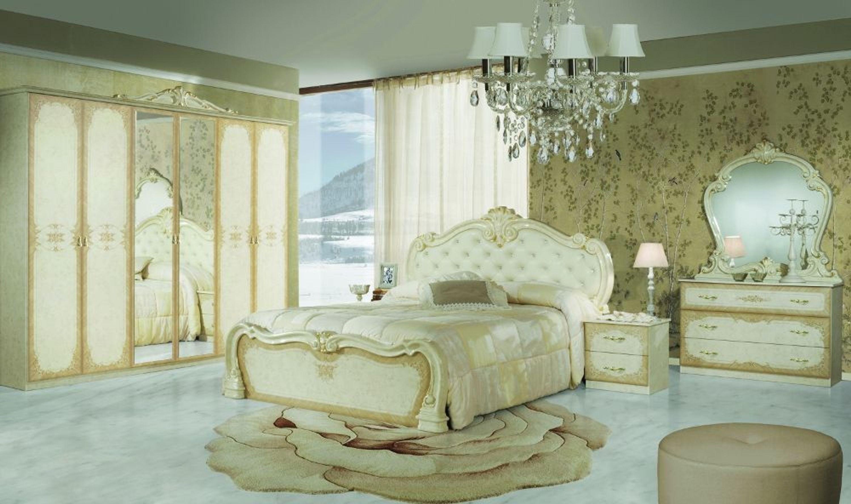 Barock Schlafzimmer Creme Tuja Mit 6 Turigem Schrank Kaufen Bei Hood De
