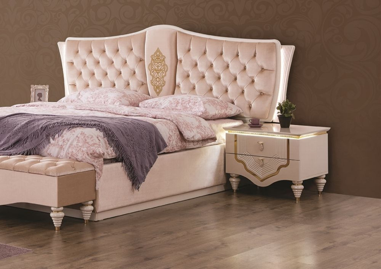Barock Schlafzimmer Weiss Gold Annelore 5 Tlg Kaufen Bei Hood De