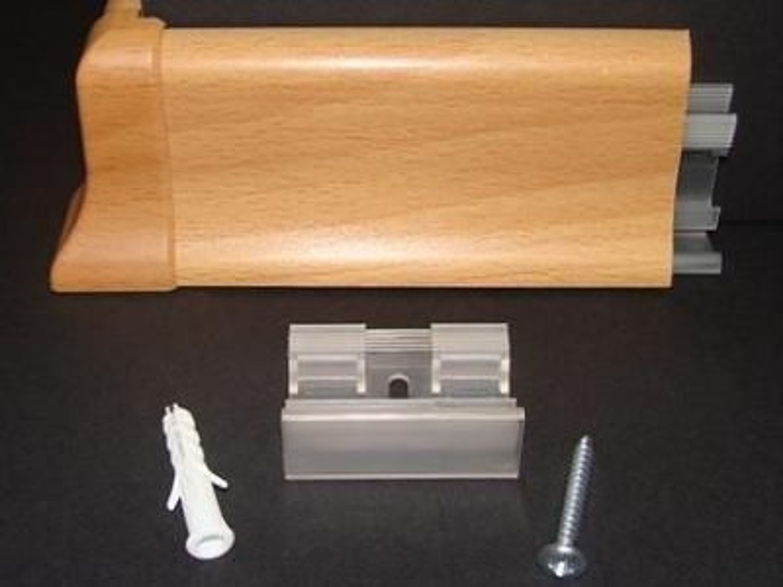 befestigungsclips 20 st ck f r sockelleisten kaufen bei. Black Bedroom Furniture Sets. Home Design Ideas