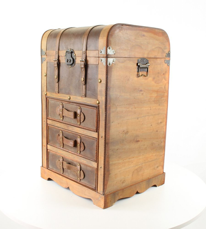 Deko Schrankkoffer Mit Schubfachern Koffer Truhe Holz Vintage Look
