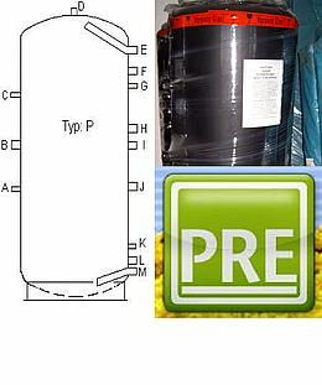 pufferspeicher 1000l f r solar heizung bhkw www pre. Black Bedroom Furniture Sets. Home Design Ideas