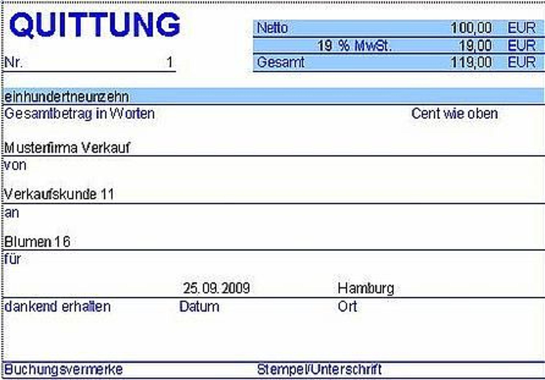 PC Quittung - Quittungsprogramm mit Protokoll (Excel) kaufen bei Hood.de