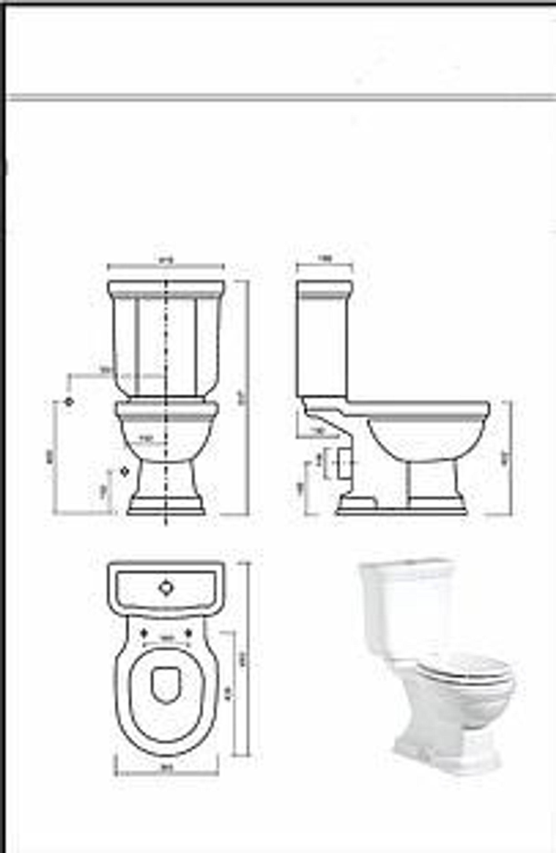 nostalgie stand wc abgang waagerecht stand wc mit sp lkasten nostalgie kaufen bei. Black Bedroom Furniture Sets. Home Design Ideas