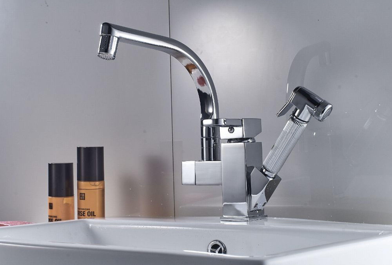 Profi Küche Armatur Mischbatterie Wasserhahn Brause Herausziehbar LED und  Ohne LED