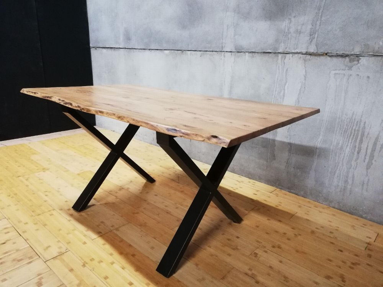 Esstisch Baumkante Baumstamm Holz Tisch Massivholztisch Akazie massiv  Design - X