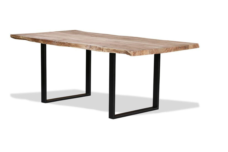 Esstisch Baumkante Baumstamm Holz Tisch Massivholztisch Akazie massiv  Design - S