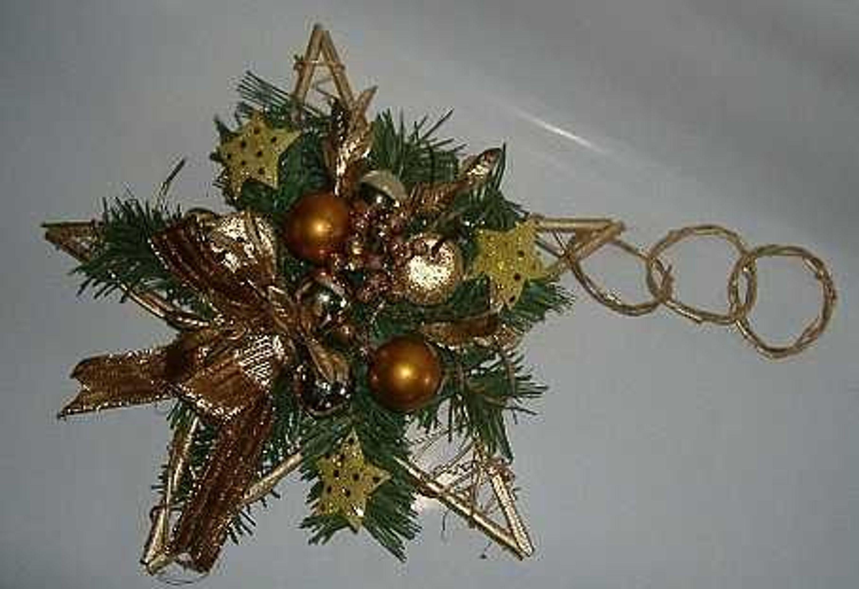 Weihnachten Stern Weihnachtsdeko Kupfer Gold Abverkauf