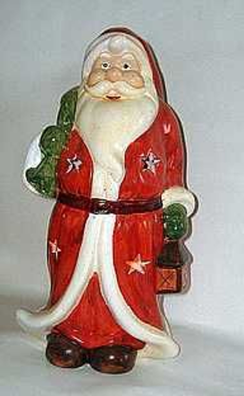 Weihnachten 33 Cm Hoher Weihnachtsmann Teelichthalter