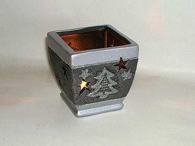 Weihnachten Teelichthalter Silber Fashion Abverkauf