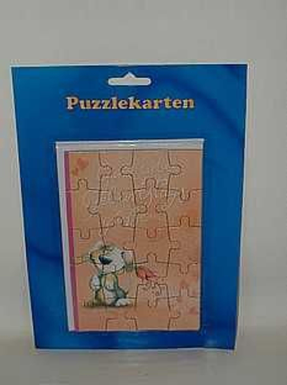 Geburtstags Karte Puzzlekarte Gl Ckwunsch Hund