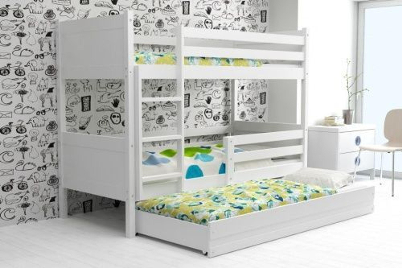 Etagenbett Mit Gästebett : Etagenbett leon mit gästebett weiß ba blau kaufen bei hood