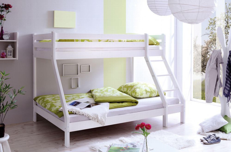 Etagenbett Mit Doppelbett : Sleep design massives kiefern etagenbett oscar einzel und