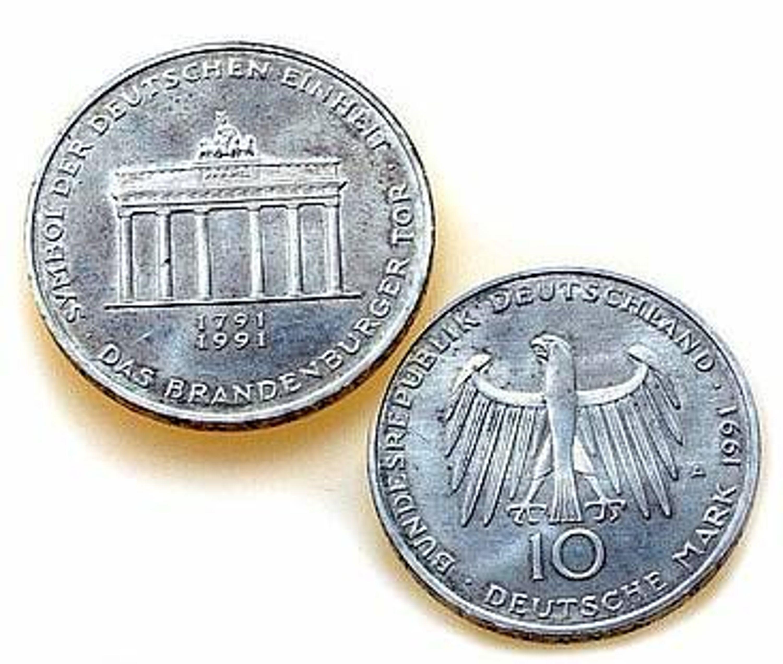 10 D Mark Münze Gedenkmünze Brd 200 Jahre Brandenburger Tor