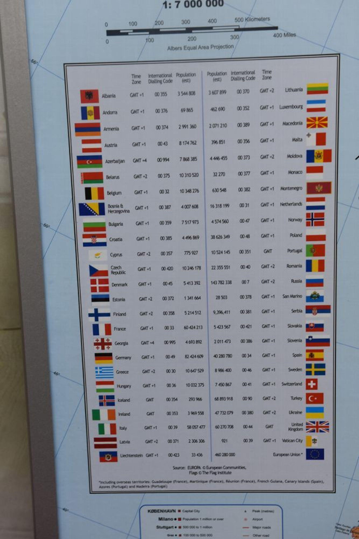 Impressionen Pinnwand Welt Europa Wandtafel Memoboard Korkwand