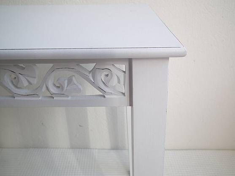 Beistelltisch Rund Weiß Klein : Beistelltisch Blumentisch – weiß – Landhausstil (klein) kaufen