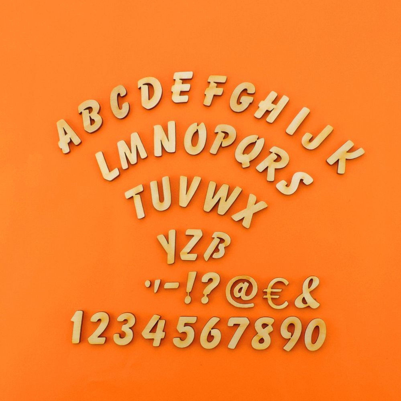 Buchstaben Zahlen Aus Holz Kinderzimmer Basteln Turschild 21mm