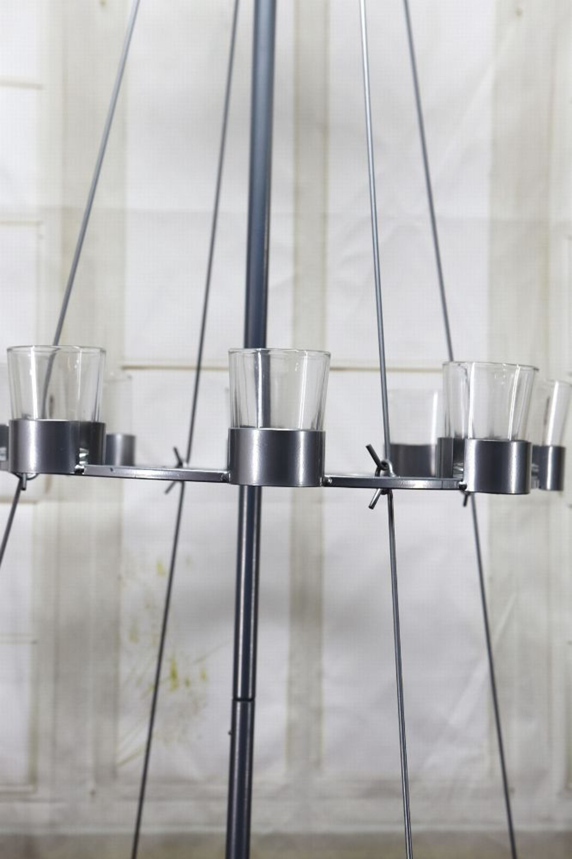Impressionen Tannenbaum.Impressionen Tannenbaum Teelichthalter Christbaum Silber Metall Glas Ca H170 Cm