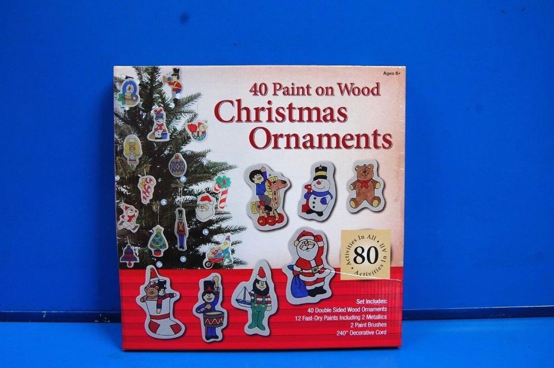 Weihnachtsdeko Christbaumschmuck 40 Teil Christbaum Holzanhanger