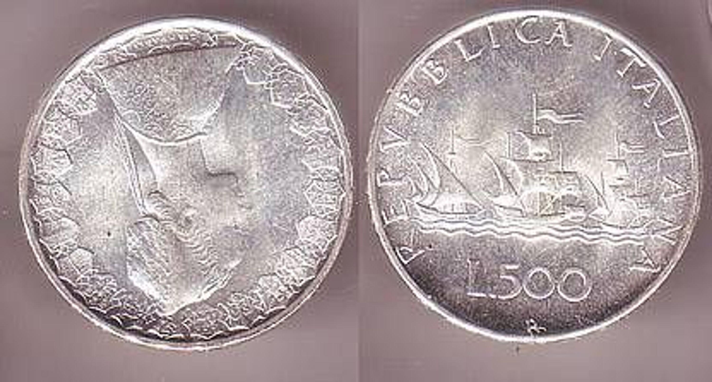 500 Lire Silber Münze Italien Kolumbus Flotte 1967 Gebraucht Kaufen