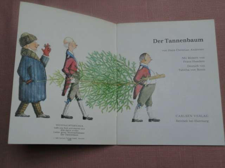 Bilderbuch Tannenbaum.Weihnachtsbuch C 1969 Carlsen Verlag Der Tannenbaum Hans Christian Andersen