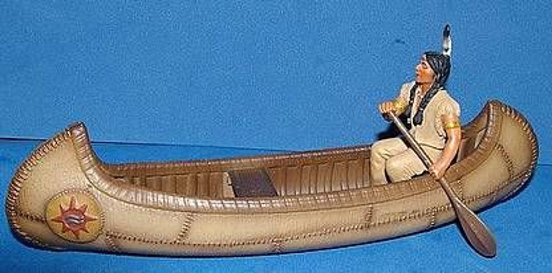 schleich indianerwelt 42013 kanu mit indianer gebraucht. Black Bedroom Furniture Sets. Home Design Ideas