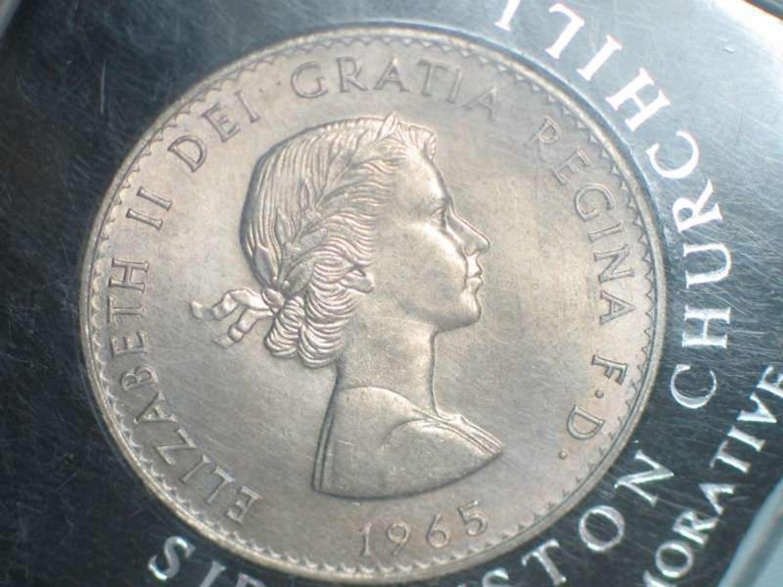 1 Crown Elizabeth Ii Dei Gratia Regina Fd 1965 Churchill Satin