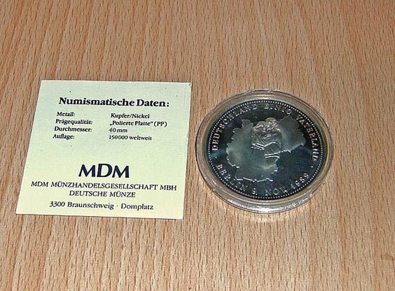 Mdm Gedenk Münze Nur 1990 Deutschland Einig Vaterland Rar Alt