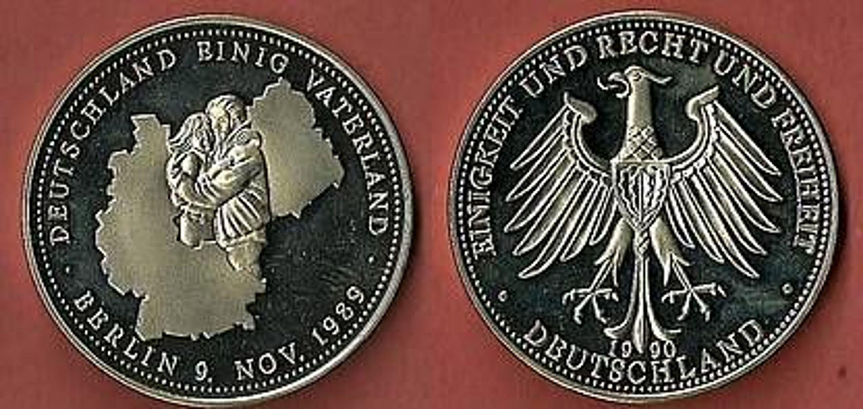 Brd Medaille Deutschland Einig Vaterland 1989 Pp 43 Kaufen Bei