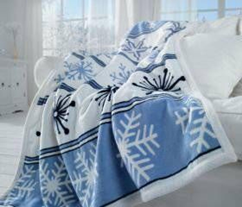 kuschelige decke design eiskristall 150 x 125 cm. Black Bedroom Furniture Sets. Home Design Ideas